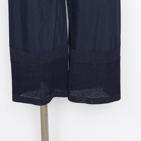 裾ニット切替ストレ-トパンツ 5205452F