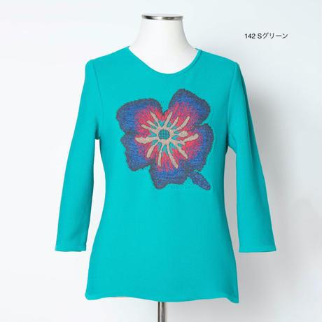 花柄ジャガード ニットプルオーバー(ウルトラ撥水素材)5205302A