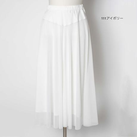 カットソー素材スカート サーキュラーシルエット(手洗い可) 5205005E
