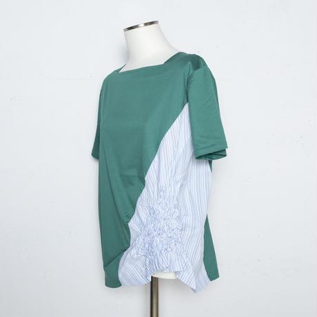 ワッシャー加工 立体柄ストラプTシャツ(ナノシア加工素材使用)5206403A