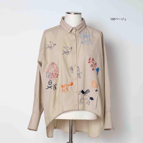 モチーフ刺繍 ブラウス 5205251O