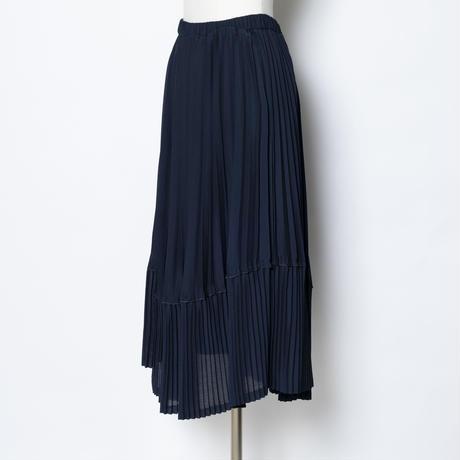 2種の切り替えプリーツスカート(ウエストゴム仕様)5202028E
