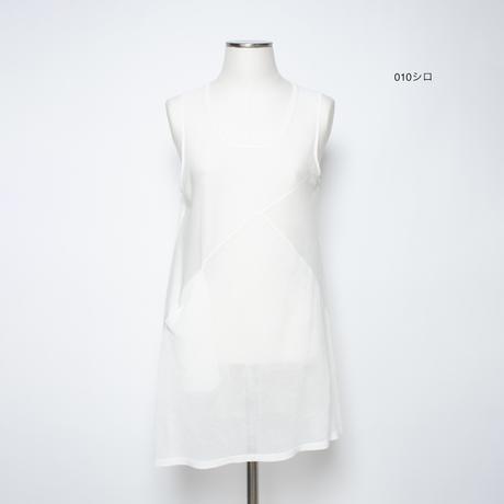 重ね着用 ノースリーブチュニック(綿ギマ加工糸使用) 5206310A