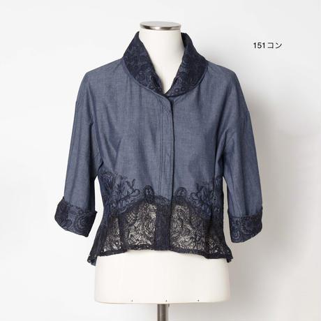 レース付き刺繍ジャケット 5205023C