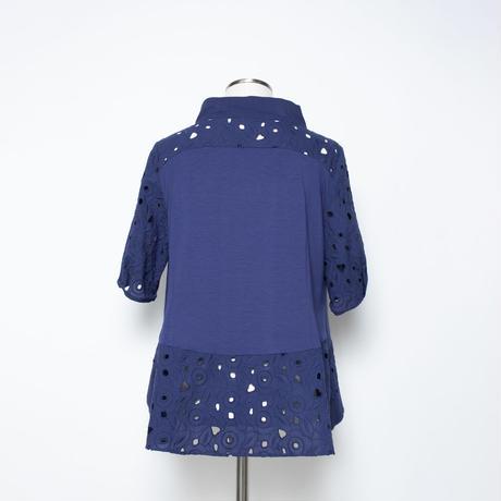 総レース ブラウス風Tシャツ 5206241A