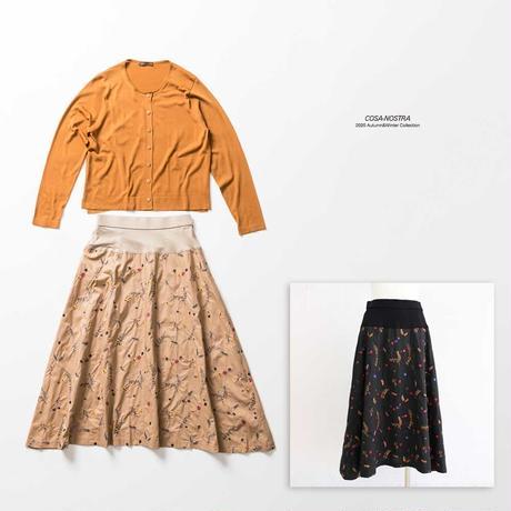 小花柄モチーフ スカート(Aライン) NO. 5202030E
