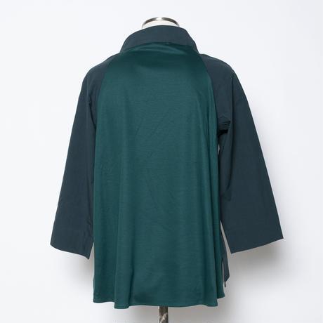 ブラウス風Tシャツ(異素材使い)5205403A