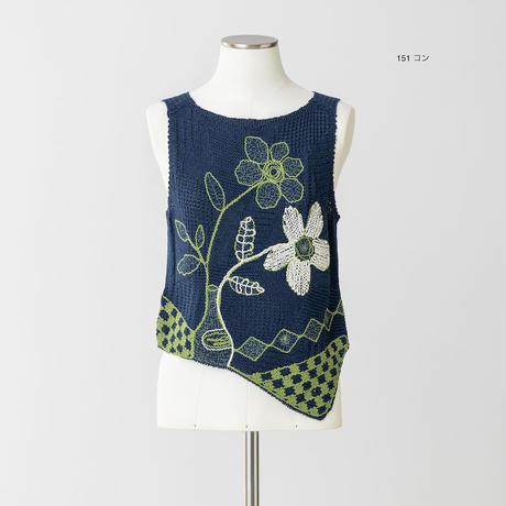 ロマンチック柄 ニットプルオーバー(全面刺繍)5205516A