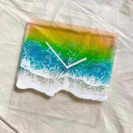 Clear Ocean Clock (Sunset)