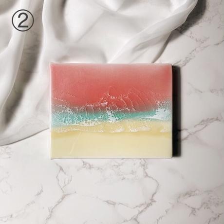 Sunset beach (mini canvas)