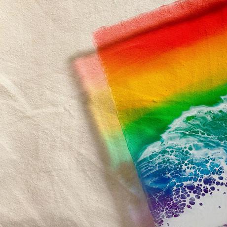 Clear Ocean Clock (Rainbow)