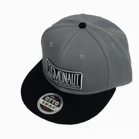 COSMONAUT SAS LOGO Snapback Cap Gray x Black