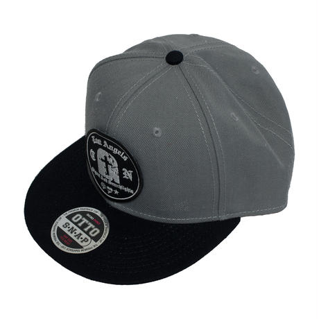 Gravestone Snapback Cap Gray x Black