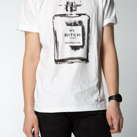 Smell the Like BITCH Tee  Mens White