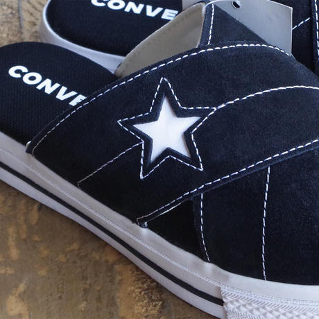 "lady's item""  new"" CONVERSE ONE STAR sandal slip BLK×WHT"