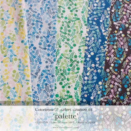 palette -navy (CO319738 D)軽やかローン生地