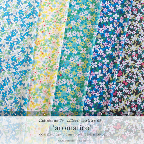 aromatico -dawn navy (CO312734 D)軽やかローン生地