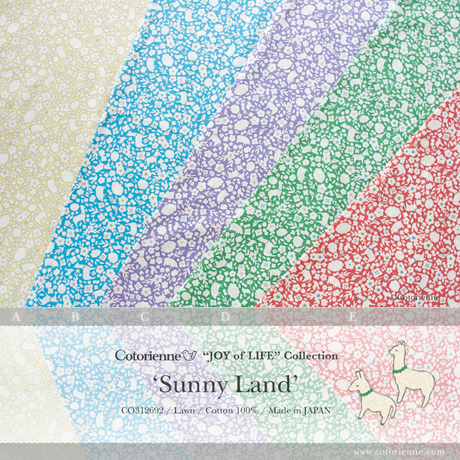 Sunny Land -green (CO312692 D)軽やかローン生地