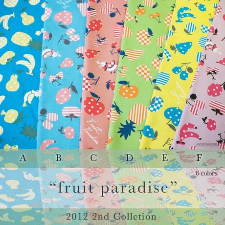 【残り180cm!】fruit paradise -turquoise (CO 152080 B)