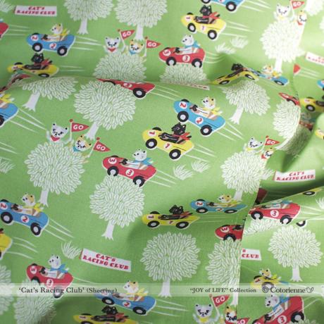 【残り180cm!】Cat's Racing Club -moss green (CO112507 B)