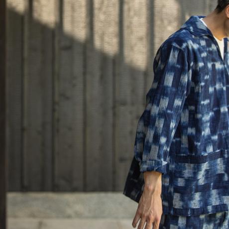ATELIER SMOCK SHIRT-BINGO FUSHIORI / TAKI-KASURI INDIGO