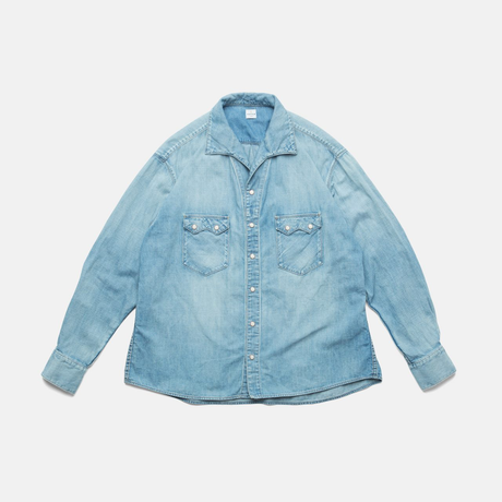 C.T.L COMFORT DENIM SHIRTS-COLIN / LIGHT INDIGO