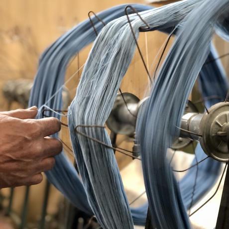 C.T.L SLIM STRAIGHT DENIM PANTS- ASAGI INDIGO (AQUA BLUE)  / SOLID RIGID (未洗い)