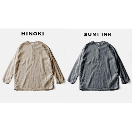 SLEEP WHISPERING SEA COTTON SHIRTーHINOKI