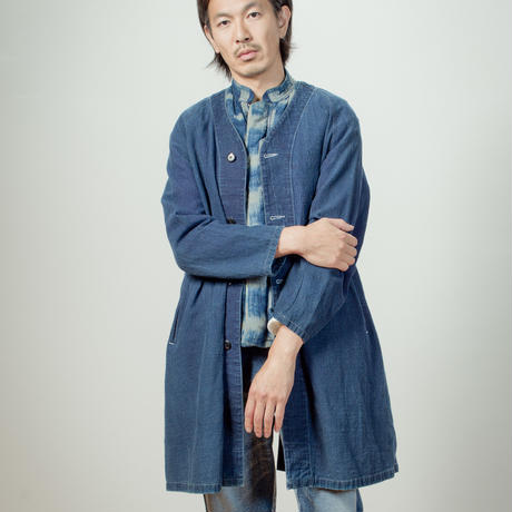"""ITTO UNSAI"" TOWN COAT-AUTHENTIC INDIGO"