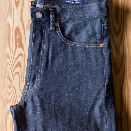 C.T.L STRAIGHT DENIM PANTS-BENGARA(INDIAN RED) / SOLID RIGID(未洗い)