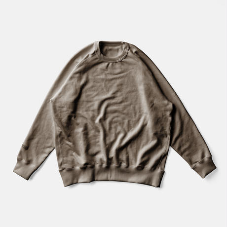 LIFE BOTANICAL DYE SWEAT SHIRTーCOFFEE