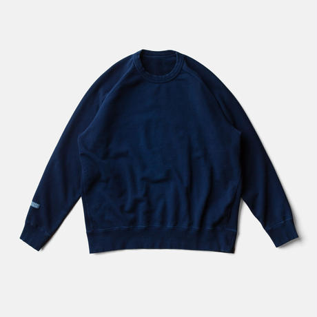 LIFE BOTANICAL DYE SWEAT SHIRTーAUTHENTIC INDIGO