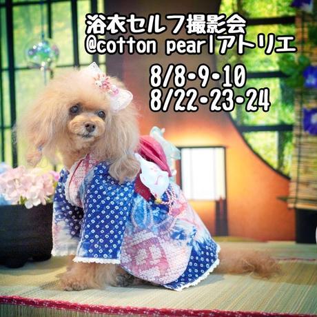 浴衣セルフ撮影会 8月22,23,24 @cotton pearlアトリエ