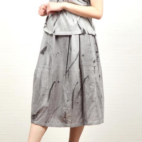 墨染めバルーンスカート