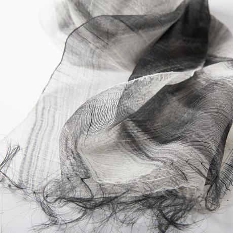 墨染オーガンジーシルクスカーフ