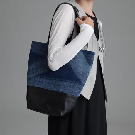 レザー×藍染 トートバッグ [牛革/綿]