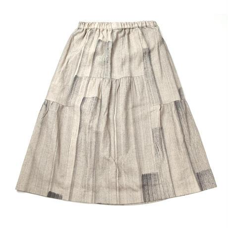 綿麻パッチワークギャザースカート