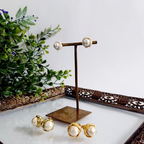 【うめむすび】梅結びとコットンパールのピアス/イヤリング ( 大 /3本)