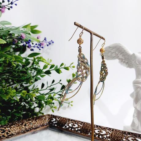 【まつむすび】松の結び羽のピアス/イヤリング