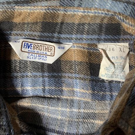 Used Five Brother  L/S Flannel  Shirt C-0514