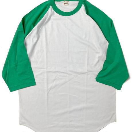 90s Screen Stars Raglan T-Shirts Green/White (dead stock)