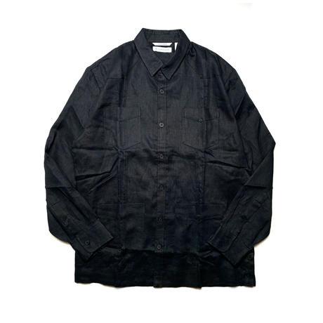 CUBAVERA L/S LINEN SHIRT  BLACK