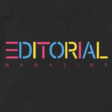 Editorial Magazine Rainbow Editorial Tee Black