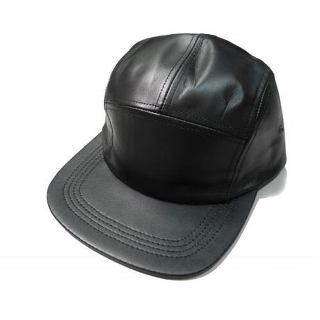 Winner Caps Cowhide Leather 5 Panel Camp Cap