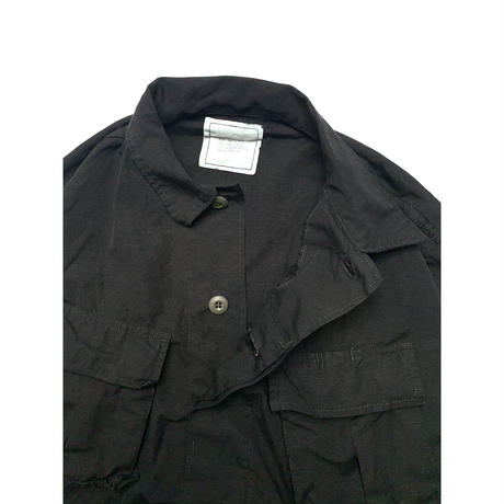 DEADSTOCK US ARMY JUNGLE FATIGUE JACKET 4th RIP STOP BLACK OVERDYE