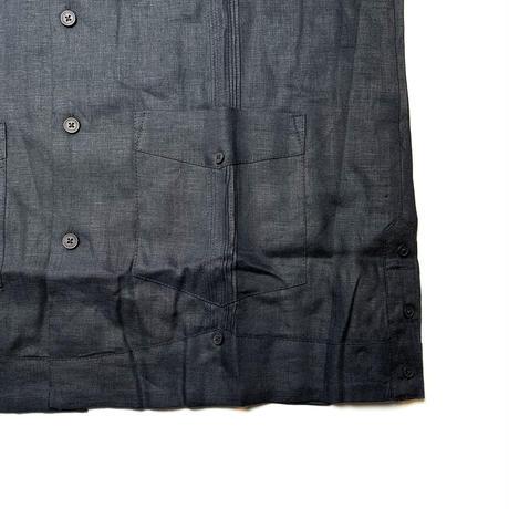 CUBAVERA S/S LINEN SHIRT BLACK