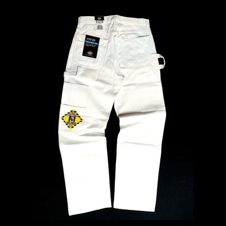 Dickies Double Knee Work Painter Pants White