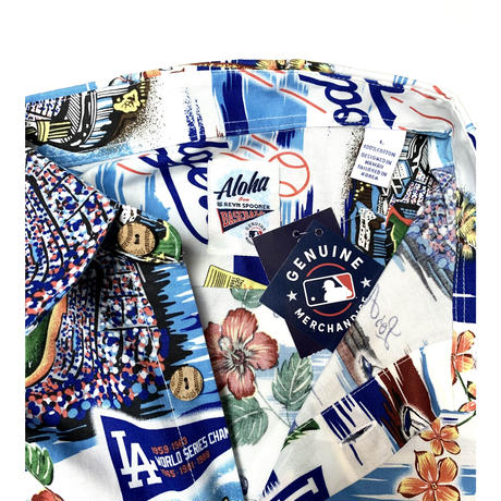"REYN SPOONER × MLB ALOHA SHIRT ""Los Angeles Dodgers"""