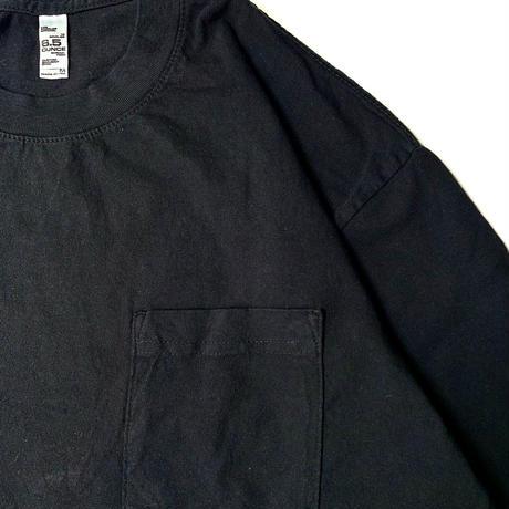 LOS ANGELES APPAREL 6.5OZ L/S POCKET T-SHIRT BLACK