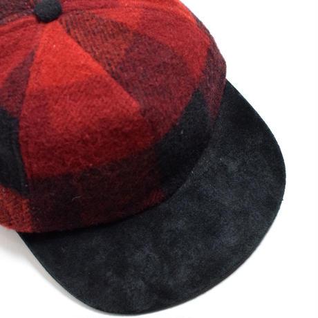 【Deadstock】90's Woolrich Suede Visor Wool Cap